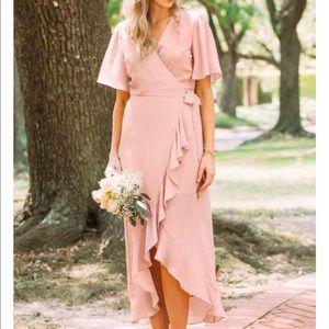 Francesca's Willow Wrap Bridesmaids Dress - blush